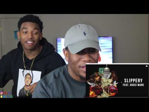 Migos - Slippery ft Gucci Mane [Audio Only]-  REACTION