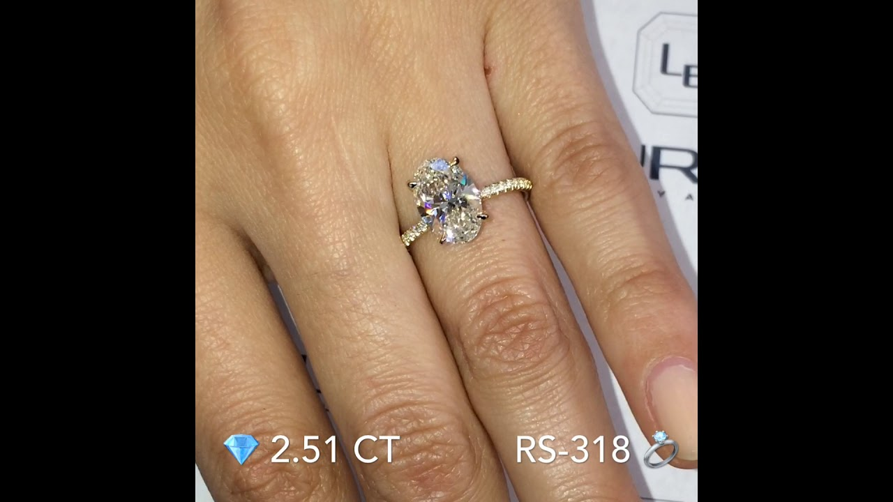 2.5 ct 'E' Color Oval Diamond Engagement Ring