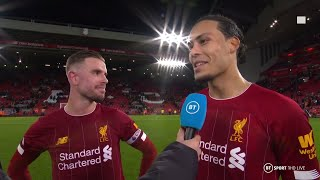 """""""We can still improve!"""" Henderson and Van Dijk strive for perfection for Liverpool"""