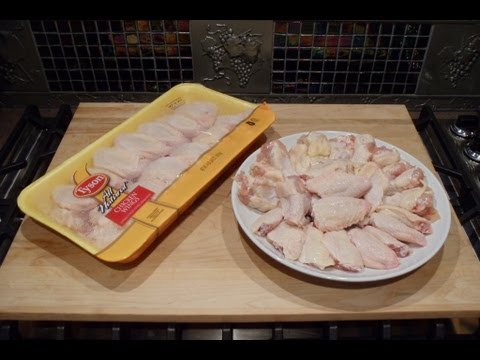 How to Cut & Separate Chicken Wings into Sections for Buffalo Wild Wings... Smart & Easy