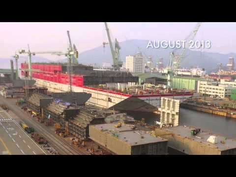 Shell Prelude FLNG substructure launch