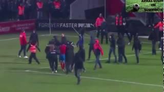 Grabe Agresion al hijo de Henrik Larsson (Jordan Larsson) por los ultras del Helsingborg