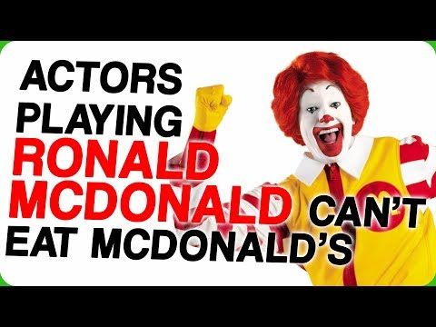 Actors Playing Ronald McDonald Can't Eat McDonald's Food