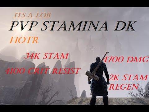 ESO HoTR: PvP Stamina Dragonknight Build (Stalwart Knight 2.0)