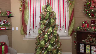 Adding Mesh & Ribbon: How To Decorate A Tree