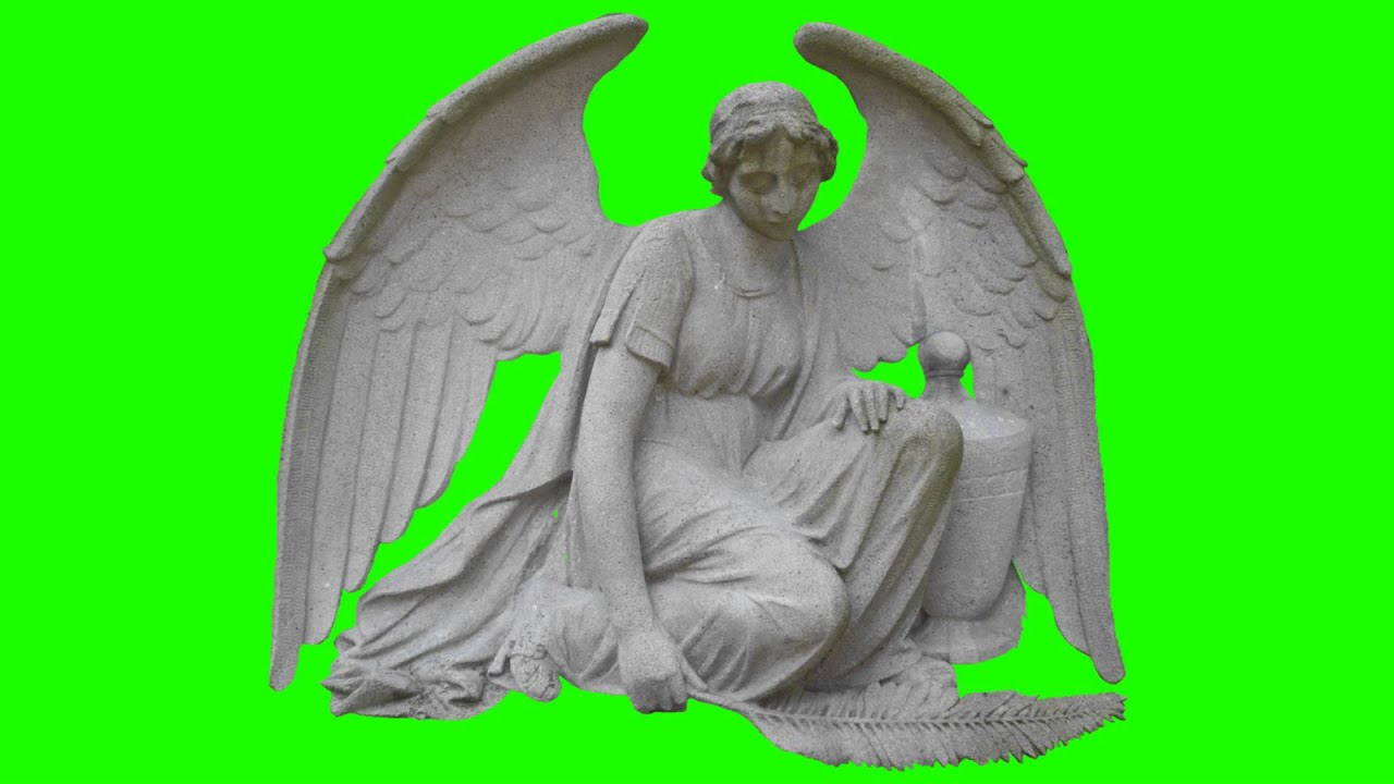 Angel Statue In Green Screen Free Stock Footage Youtube
