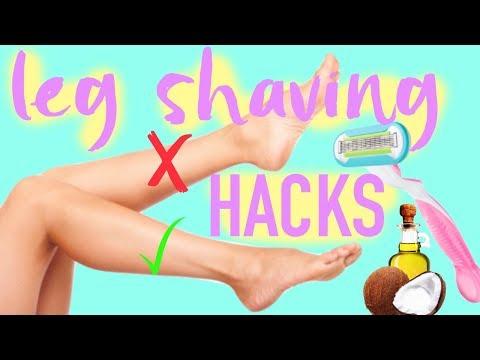 LEG SHAVING HACKS: Things you're doing WRONG | Paris & Roxy