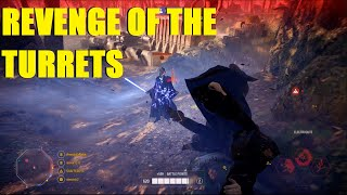 Star Wars Battlefront 2 - REVENGE OF THE TURRETS! BRO I CAN'T XD