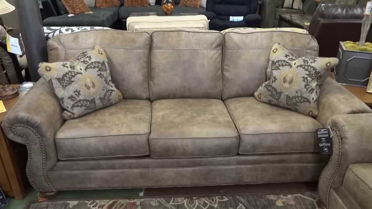 Ashley Furniture Larkinhurst Earth Couch U0026 Loveseat Review   YouTube