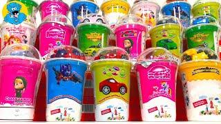 Іграшки Сюрпризи Вкусномама,Unboxing Маша і Ведмідь,Тачки,Трансформери,My Little Pony і Феї