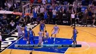 Russel Westbrook hits half court buzzer beater to force OT - SICK!! (OKC vs Magic)