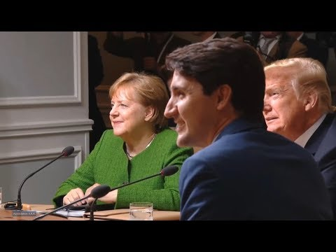 President Trump participates in Session of the G7 Summit  2018 in Quebec Canada. June 8