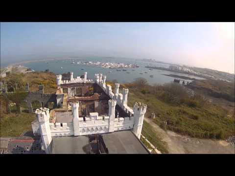 Soldiers Point, Break Water, Holyhead - filmed from UAV