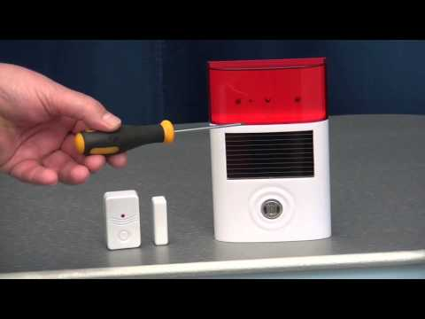 Wireless Door Alarm with Solar Siren from Ultra Secure Direct