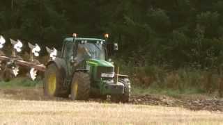 John Deere 6930 ploughing.
