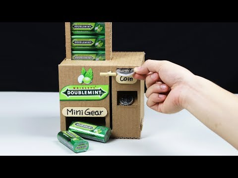 Wow! Amazing DOUBLEMINT Vending Machine by Chocolate Coin - DIY