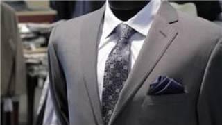 Men's Formal Fashion Advice : How Do I Fold a Handkerchief for a Suit Pocket?