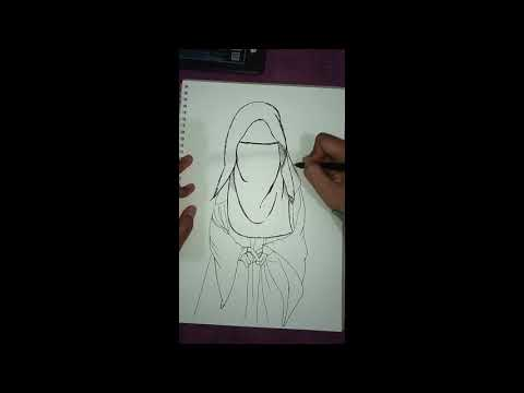 Draw Wanita Bercadar Youtube