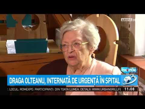 Draga Olteanu, internată de urgență în spital