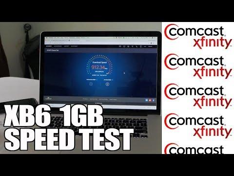 Xfinity XB6 1gb Speed Test