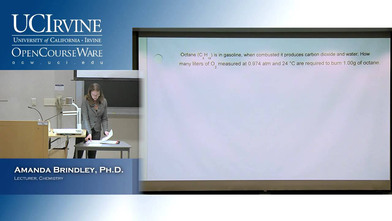 General Chemistry 1A  Lecture 19  Gas Laws, Part 2