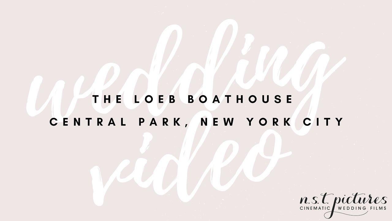 The Loeb Boathouse Central Park Wedding Video Jillian John Nyc Videographer