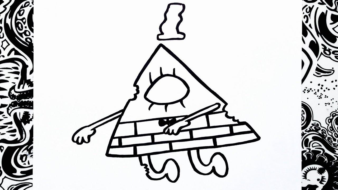 Gravity Falls Personajes Para Colorear: Como Dibujar A Bill Zombie De Gravity Falls