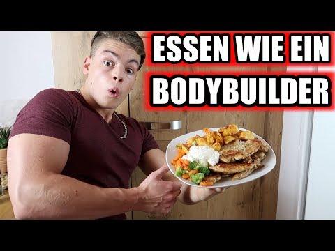 1 Tag lang essen wie ein Bodybuilder in der Diät - Das EXPERIMENT !!!