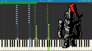 Danger Mystery - Undertale (Piano sheet music/MIDI) (Synthesia)