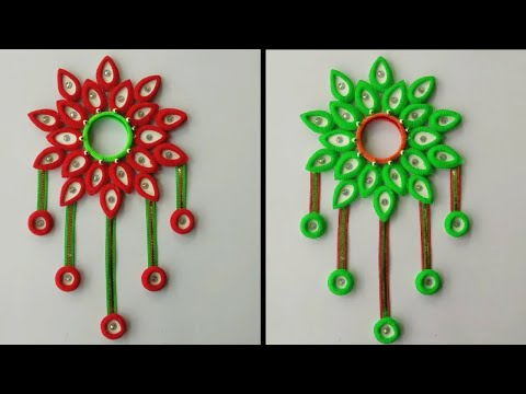 AWESOME WALL HANGING TORAN FROM HAIRBANDS || HAIRBAND CRAFT FOR WALL TORAN || DIY - WALL TORAN ||