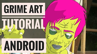 MEMBUAT GRIME ART DI ANDROID | Sketchbook Tutorial