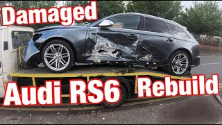 I bought a crashed Audi RS6 COPART UK