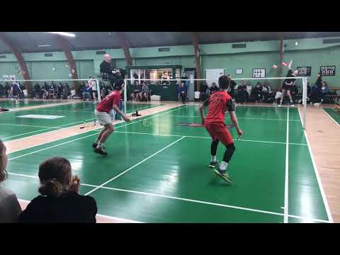 Trying out U17 badminton at Aros Junior Cup 2019