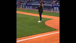 Meg Hershey Sings the National Anthem at The Nashville Sounds - 4/8/16