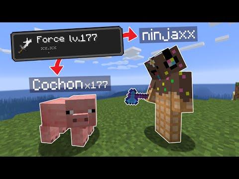 Minecraft mais chaque Mob que je kill me donne Force..