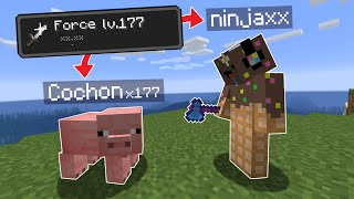 Minecraft mais chaque Mob que je kill me donne Force..