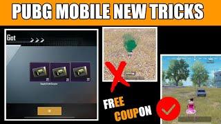 pUBG MOBILE NEW 3 SECRET TRICKS !! 15 FREE CLASSIC CRATE COUPON PUBG MOBILE NEW TRICK