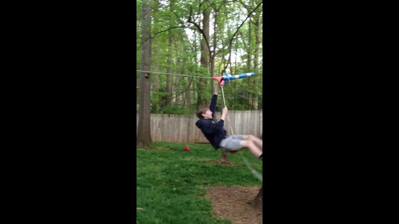 backyard slackers zipline fun youtube