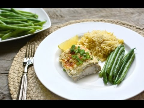 Baked Fish With Dill Sour Cream Topping Recipe