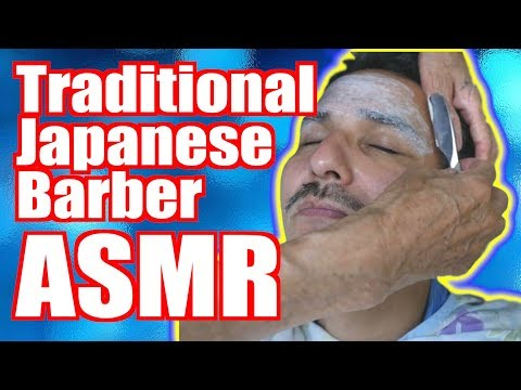[ASMR] Classic Japanese 床屋さん/Barbershop: Cut & Shave [4K]