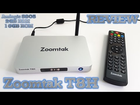 Zoomtak T8H TV BOX REVIEW - Best Amlogic S905 TV Box