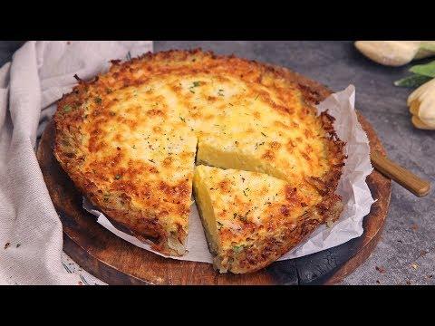 Quiche Lorraine in Hash Brown Crust