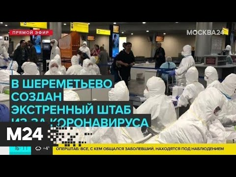 В аэропорту Шереметьево создан экстренный штаб из-за коронавируса - Москва 24