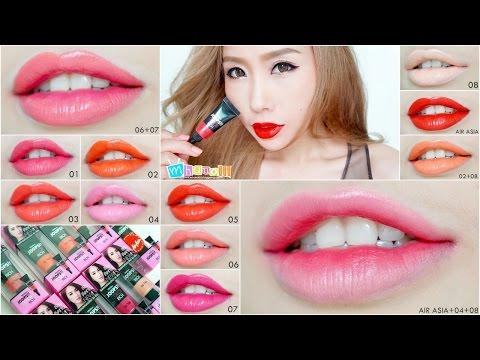 Review : Mistine Joops! Color Rich Lip Tube สวอทช์ 9 เฉด + 3 เฉดพิเศษที่นำมามิกซ์ให้ชมกัน!