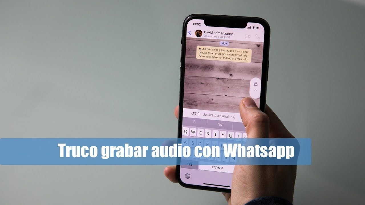 c45023c86ee Truco para grabar audios en Whatsapp en el iPhone - YouTube