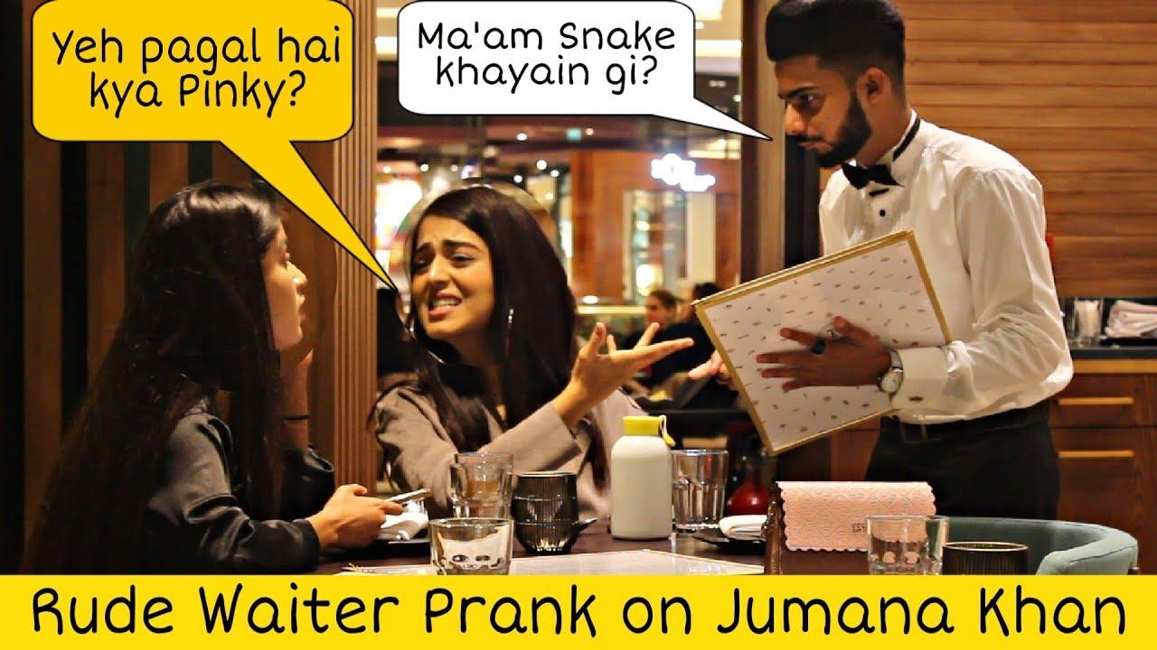 Waiter Prank on Jumana Khan - Tik Tok Celebrity | Prank in Dubai