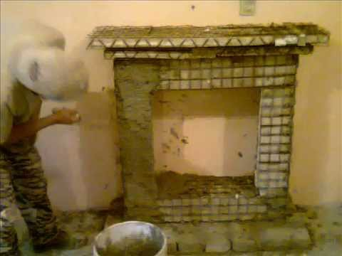 Construcci n de una chimenea aparente youtube for Como hacer chimeneas decorativas