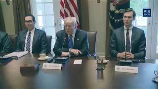 President Donald Trump Participates in an Expanded Bilateral Meeting with Prime Minister Hariri