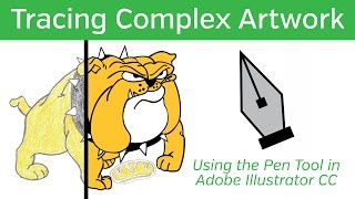 Adobe Illustrator CC Tutorial - Tracing with the Pen Tool
