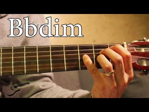 Bbdim (Flat Diminished) Chord on Guitar - YouTube
